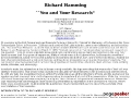 You and Your Research: A talk by Richard Hamming