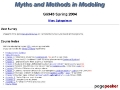 Myths and Methods in Modeling - M. Spiegelman (Columbia Univ.)