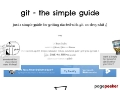 Git - The Simple Guide